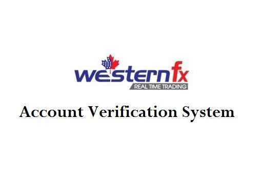 WesternFx Account Verification
