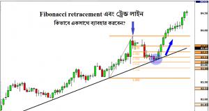 Fibonacci Retracement and Trend Line